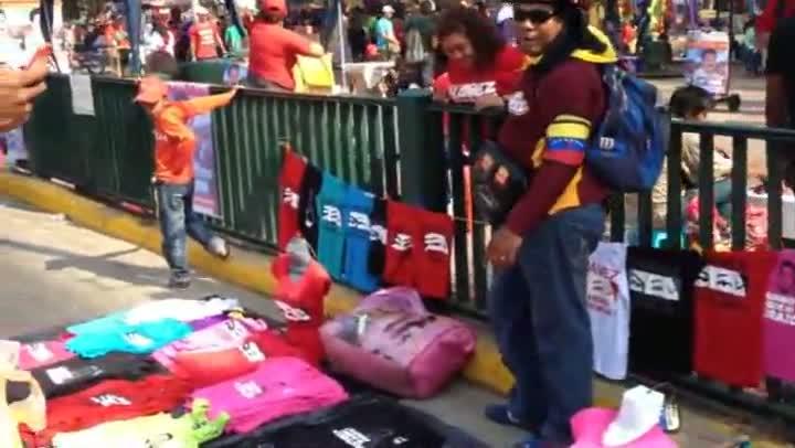 Campanhas políticas chamam atenção em Caracas