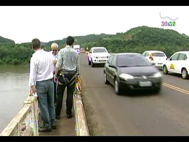 TVCOM 20 Horas - Saiba como foi a vistoria na ponte sobre de Iraí, que está assustando os motoristas