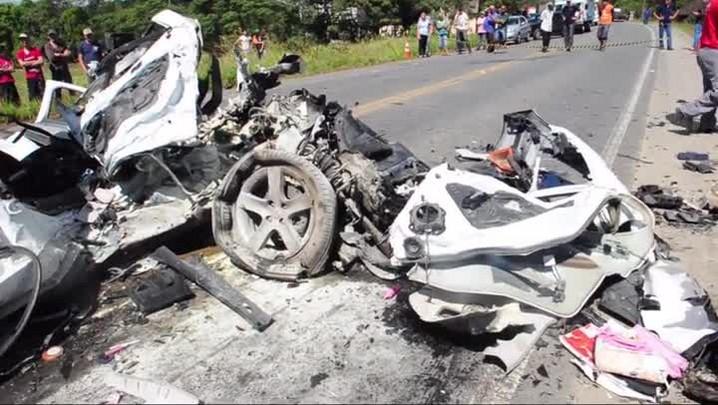 Imagens de grave acidente na Rodovia do Arroz