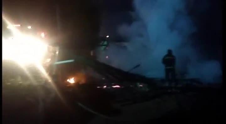 Incêndio em casa em São Francisco do Sul