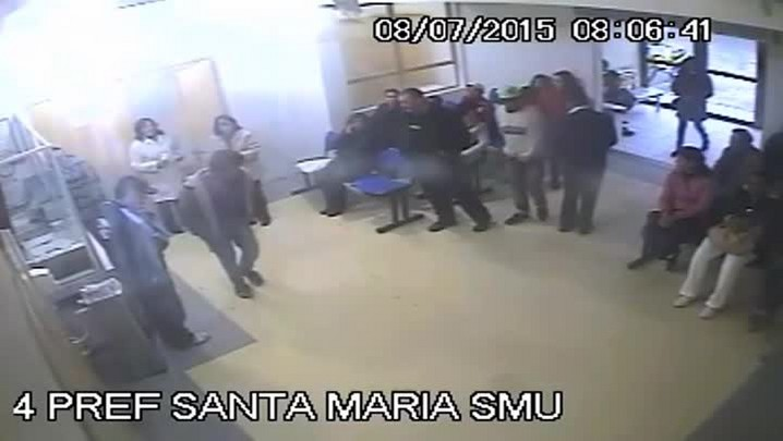 Jovem é agredido dentro de PA em Santa Maria