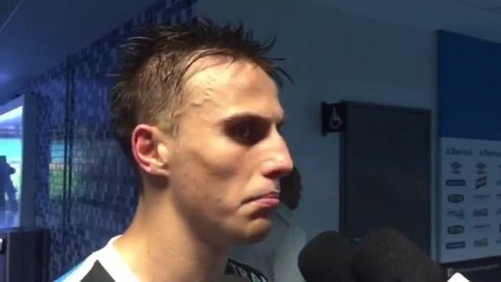 """Bressan comenta gol na Arena: \""""O grupo me apoiou, me deu toda a confiança\"""""""