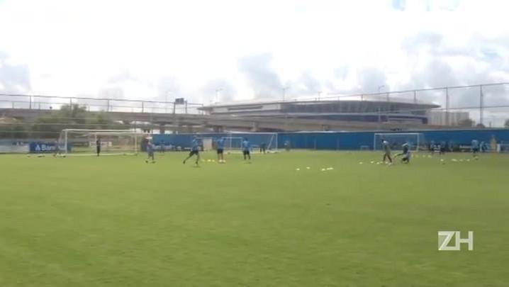 Grêmio faz trabalhos físicos no CT Luiz Carvalho