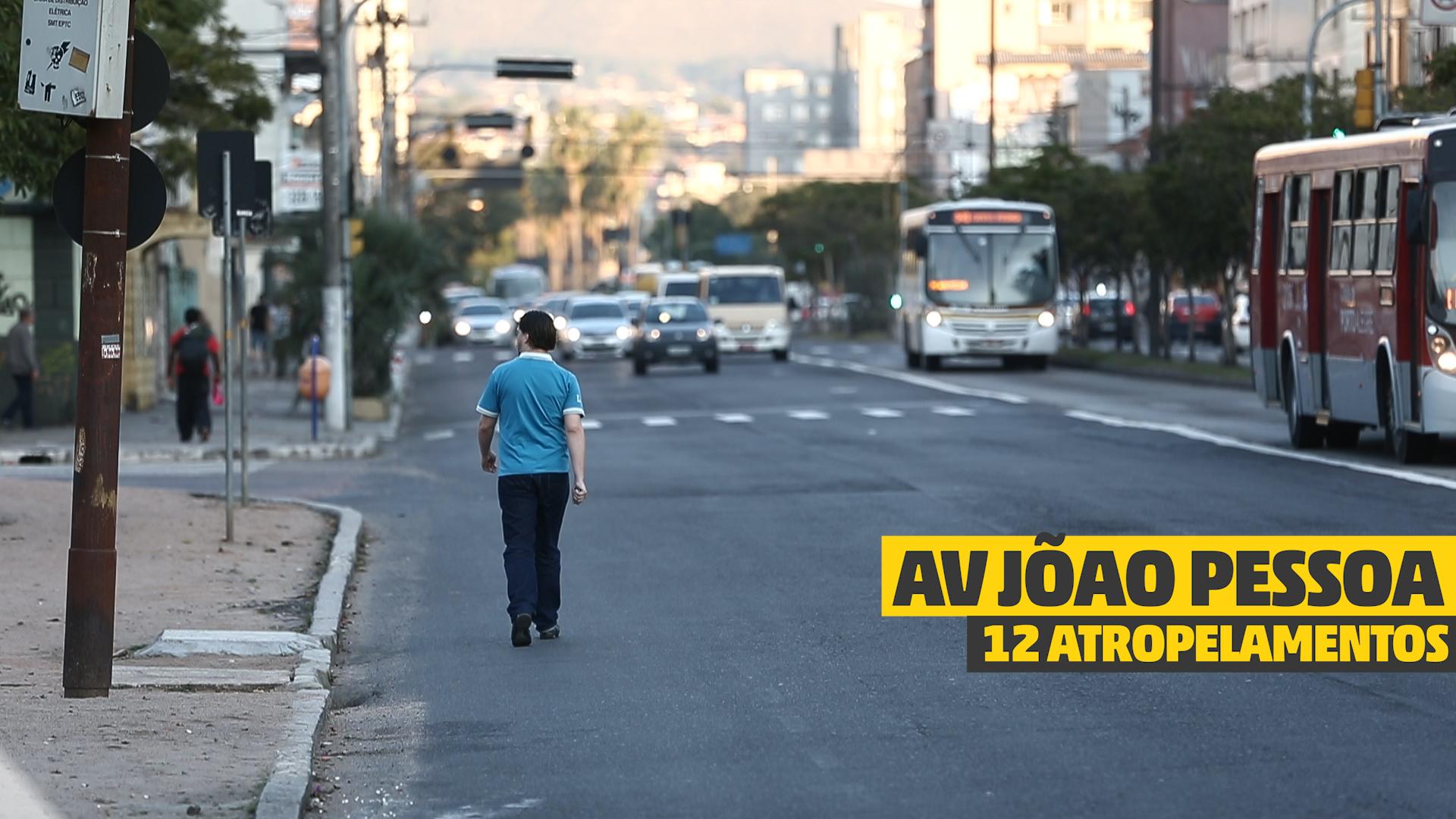 Travessia perigosa em Porto Alegre