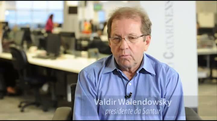 Entrevista com o presidente da Santur, Valdir Walendowsk