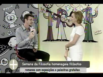 TVCOM Tudo+ - Semana da Filosofia - 05/11/13