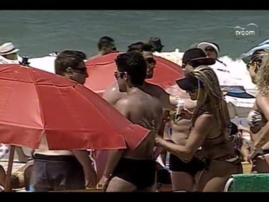 TVCOM Tudo Mais - 2o bloco - Previsões 2014 e circuito aeróbico na praia - 01/01/2014