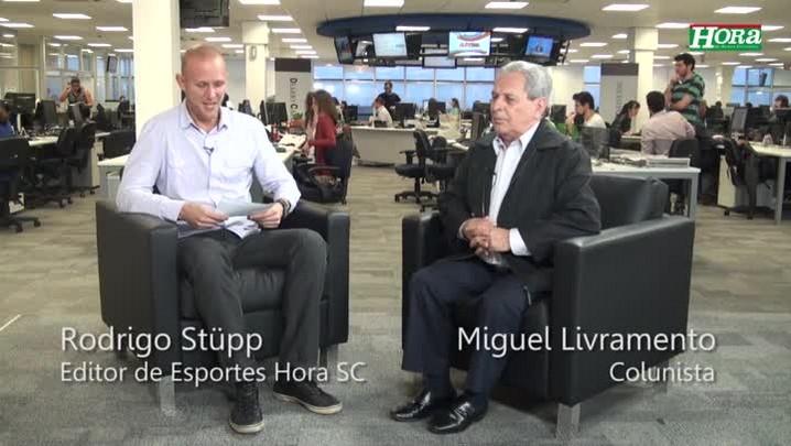 Miguel Livramento relembra seu primeiro gol narrado: e foi do Figueirense!