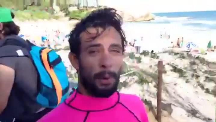 Tomas Hermes, surfista catarinense, conversa com o DC logo depois de sua bateria