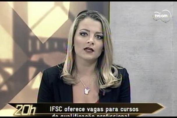 TVCOM 20 Horas - Ponte que liga duas cidades do Vale do Itajaí coloca cidadãos em risco - 20.02.15