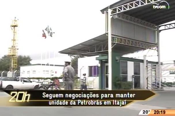 TVCOM 20 Horas - Seguem negociações para manter unidade da Petrobrás em Itajaí - 26.05.15