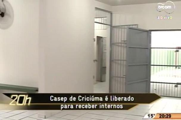 TVCOM 20 Horas - Casep de Criciúma é liberado para receber internos - 23.06.15