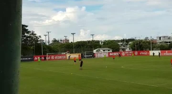 Inter treina após vencer o Brasil-Pel