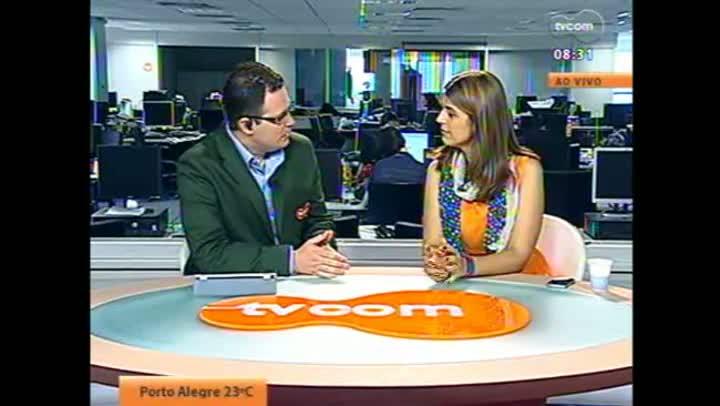 Candidata Manuela em entrevista à TVCOM