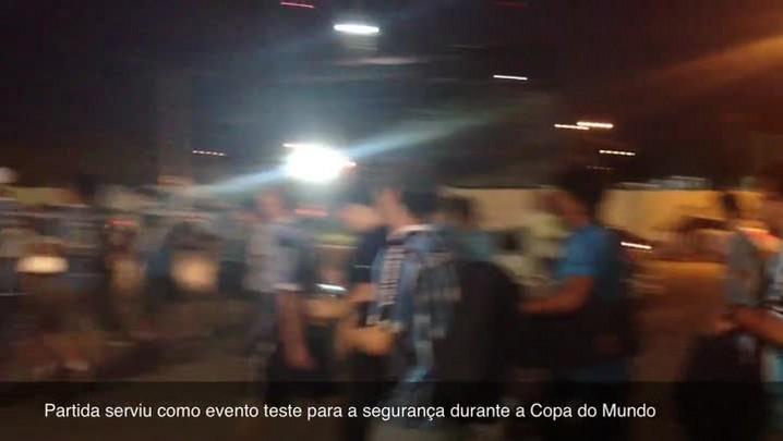 Jogo do Grêmio serve como evento teste para a segurança na Copa. 13/03/2014