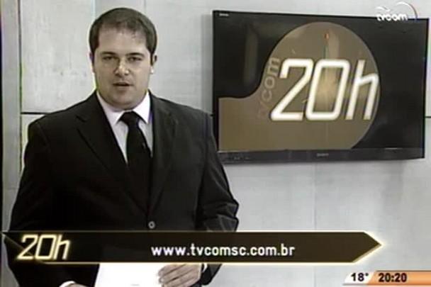 TVCOM 20 Horas - Setor de cargas contesta denuncia de que caminhões circulem com excesso de peso em SC - 2º Bloco - 14/07/14