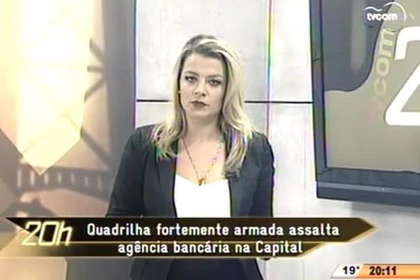 TVCOM 20 Horas - Quadrilha fortemente armada assalta agência bancária na Capital - 29.05.15