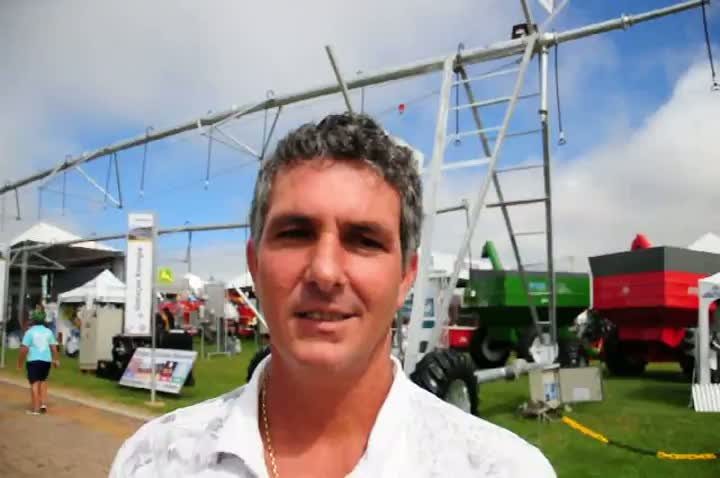 Agricultor fala das vantagens da Expodireto