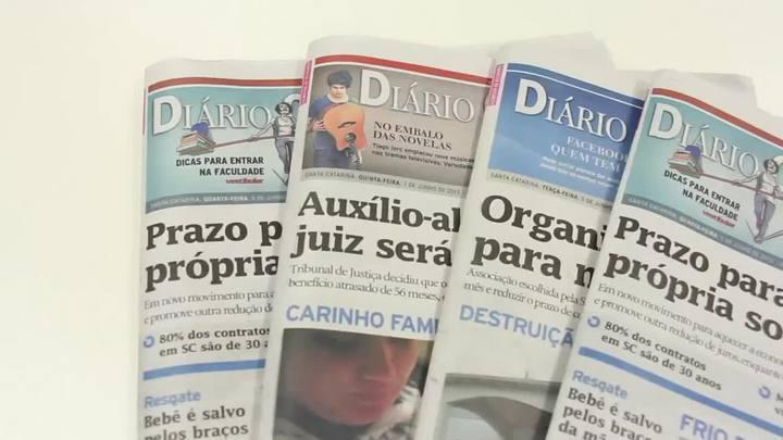 Chamadas Diário Catarinense 03 de abril de 2014
