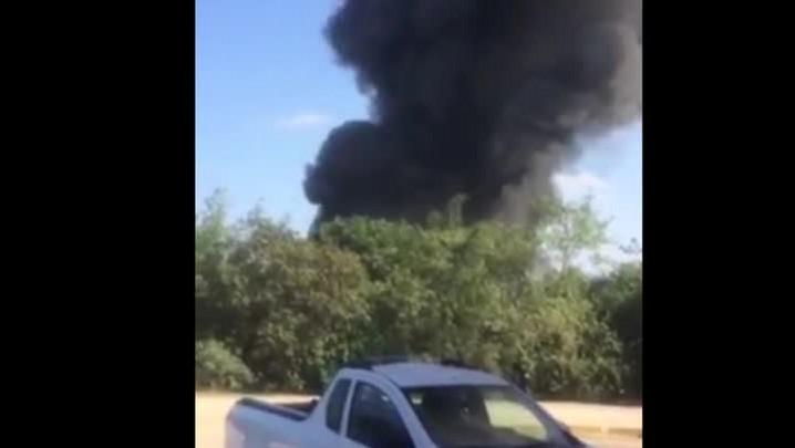 Incêndio em empresa de reciclagem em Pirabeiraba