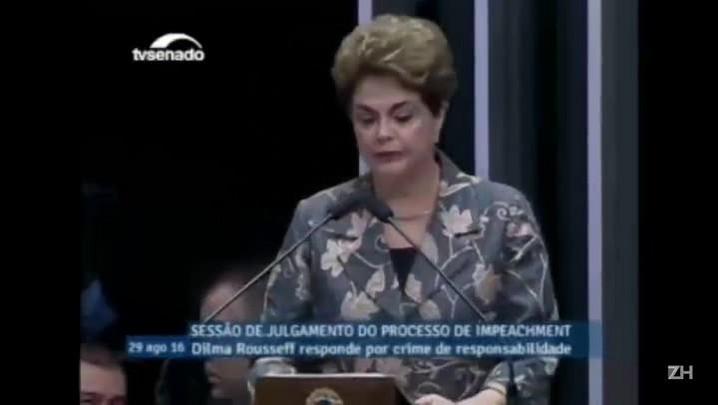Confira a íntegra do discurso de Dilma no Senado