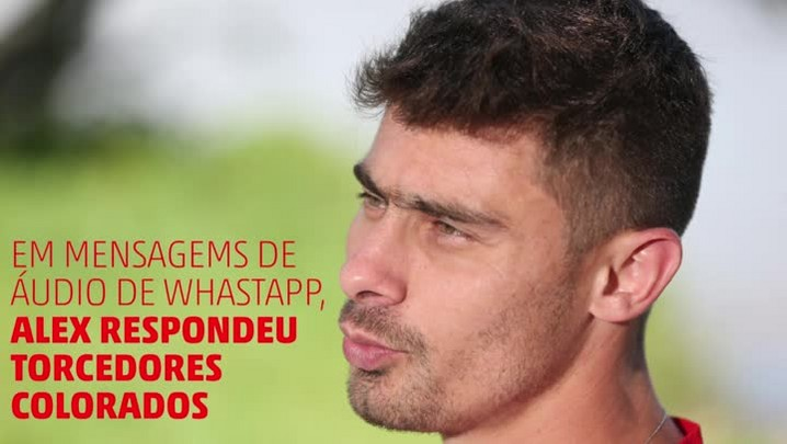 Áudio: Alex manda mensagens pelo WhatsApp para torcedores do Inter