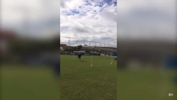Grêmio faz treino físico para a estreia no Brasileirão