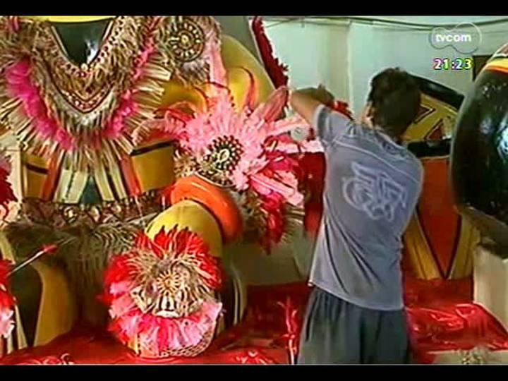 TVCOM Tudo Mais - Bastidores dos preparativos da escola Apoteose do Samba