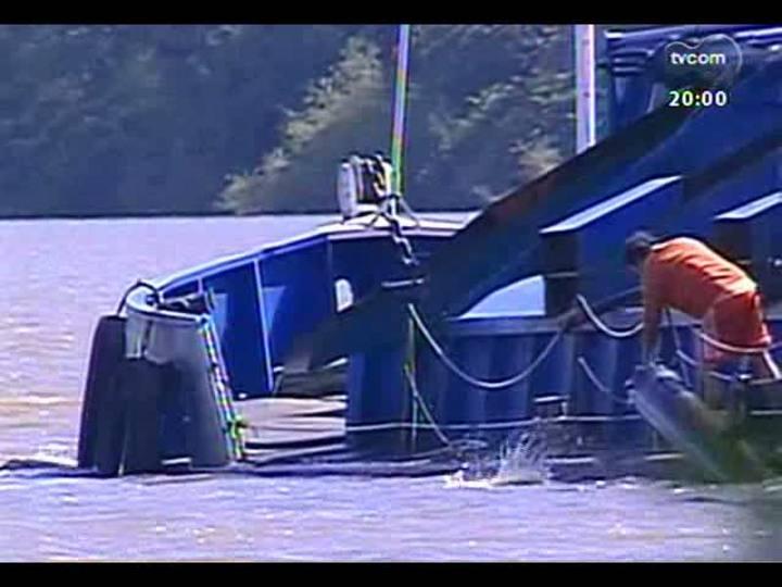 TVCOM 20 Horas - Saiba mais sobre a retomada da extração de areia no Rio Jacuí - Bloco 1 - 11/06/2013
