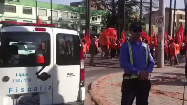 Protesto da Força Sindical bloqueia João Pessoa com Princesa Isabel. 11/07/2013