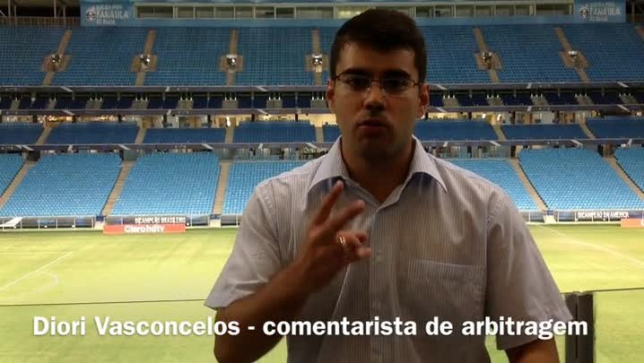 Arbitrágem: Diego Almeida Real mostra segurança e tem boa atuação em jogo do Grêmio