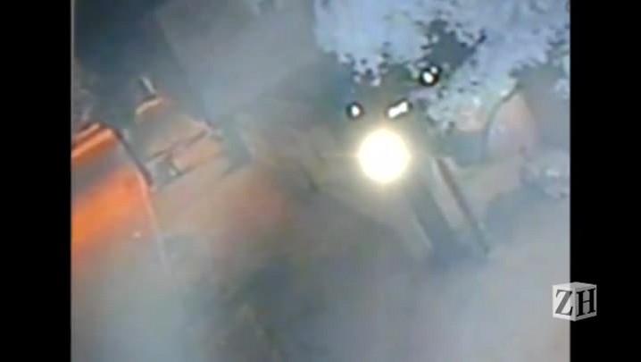 Imagem mostra fuga de homem após tentar invadir prédio