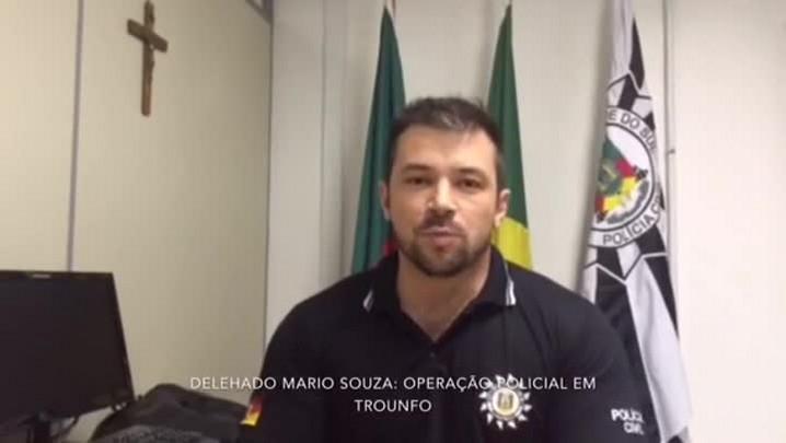 Delegado Mário Souza fala sobre a operação policial contra tráfico e homicídios em Triunfo