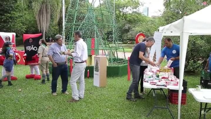 Natal Solidário recebe doações de alimentos no Rio Grande do Sul