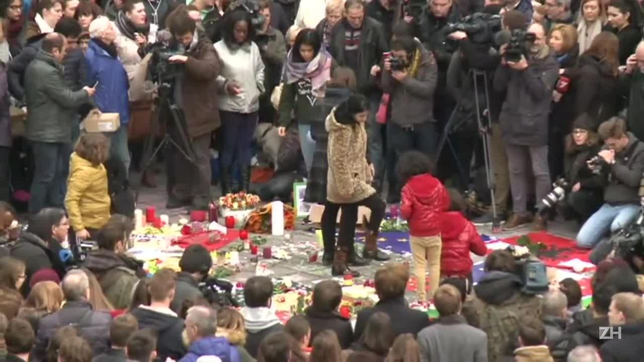 Minuto de silêncio pelas vítimas de atentados em Bruxelas