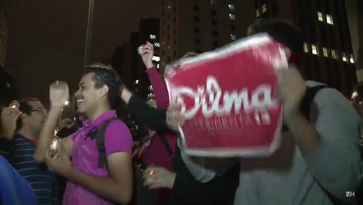 Manifestação pró e contra Dilma na Paulista
