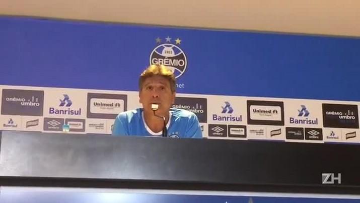 "\""No Grêmio, precisa da entrega\"", afirma Renato"