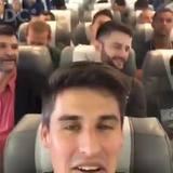 Vídeo de Filipe Machado, jogador da Chapecoense, registra momentos antes da decolagem