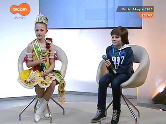 TVCOM Tudo Mais - Regina Lima conversa com Mini Miss Brasil e o ator mirim Luca no programa especial de Dia das Crianças