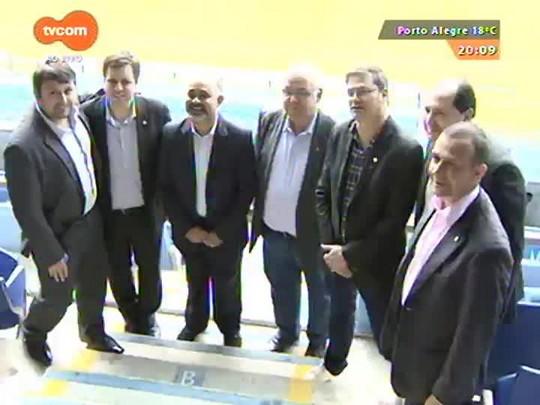 TVCOM 20 Horas - Ministro do Esporte George Hilton vem a Porto Alegre conhecer a iniciativa da torcida mista - 30/04/2015
