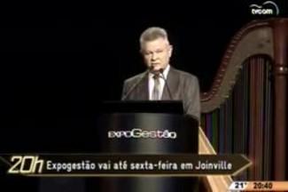 TVCOM 20 Horas - Expogestão vai até sexta-feira em Joinville - 27.05.15