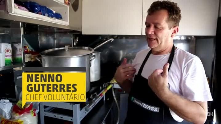 Chef instala food truck em Eldorado do Sul para cozinhar para atingidos pelas enchentes