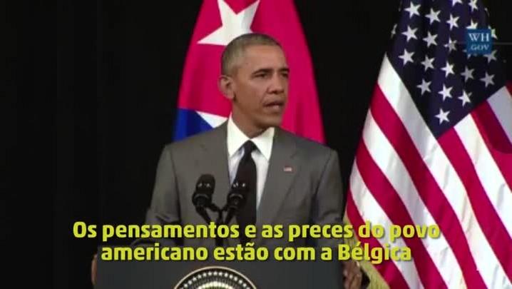 """Obama: \""""O pensamento e as preces do povo americano estão com a Bélgica\"""""""