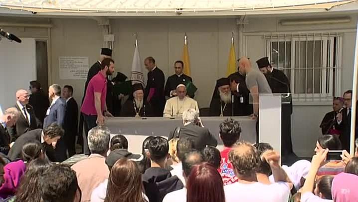Papa acolhe refugiados muçulmanos
