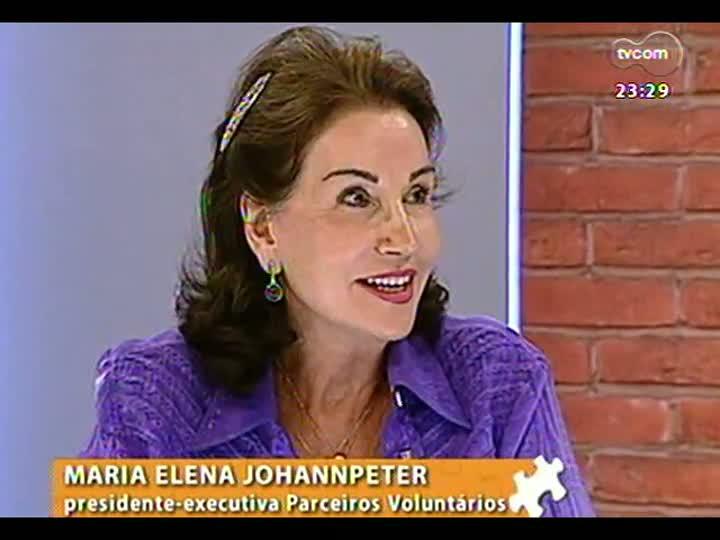 Mãos e Mentes - Presidente-executiva da Parceiros Voluntários, Maria Elena Johannpeter - Bloco 2 - 23/01/2013
