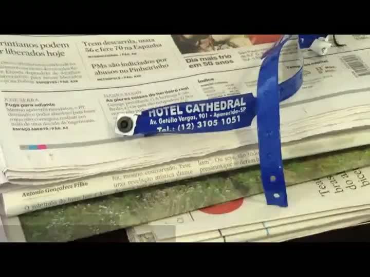 Desaparecimento de idosa gaúcha no maior santuário do Brasil provoca mudanças no controle de turistas em Aparecida. 31/07/2013