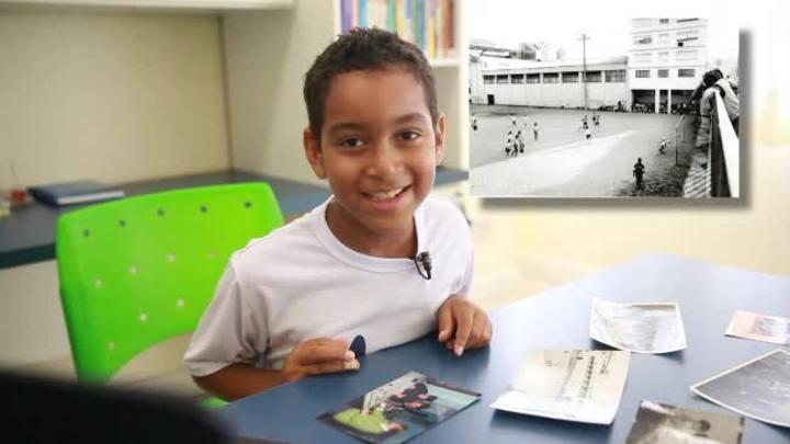 Túnel do Tempo: Crianças interpretam fotos antigas do Colégio Rosário