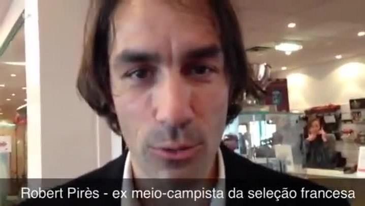 "Robert Pirès: \""Brasil vai organizar uma grande Copa.\"" 05/03/2014"