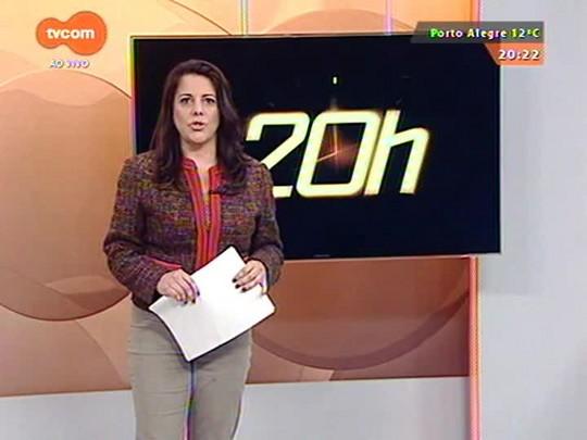 TVCOM 20 Horas - Trânsito na nova ponte de Laguna será liberado nesta quarta-feira - 15/07/2015