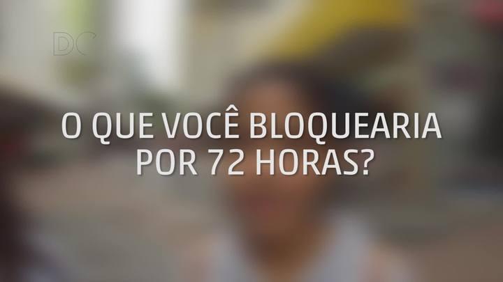 Enquete: O que você bloquearia por 72 horas?
